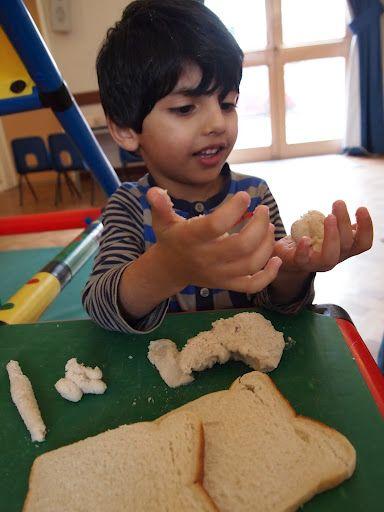 bread and PVA modelling clay #abcdoes #preschool #kindergarten #eyfs
