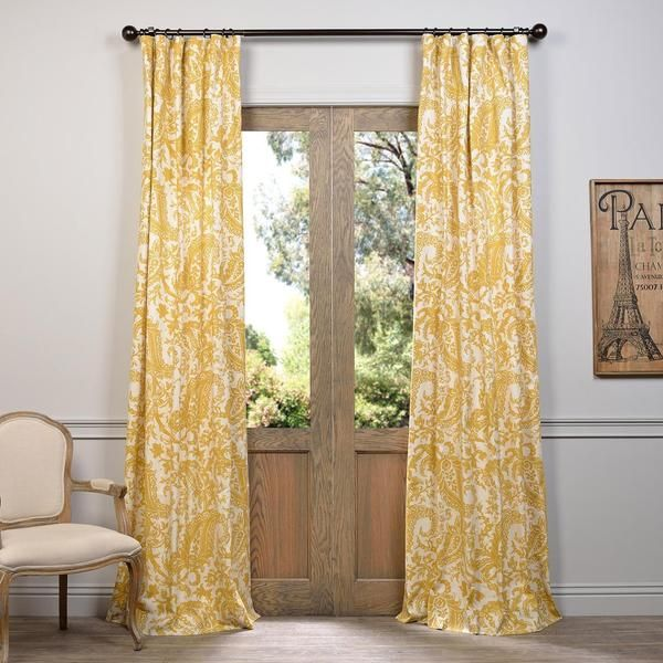 Awesome Curtain: Curtains Black With White Walls From Beautiful Yellow Curtain  Panels