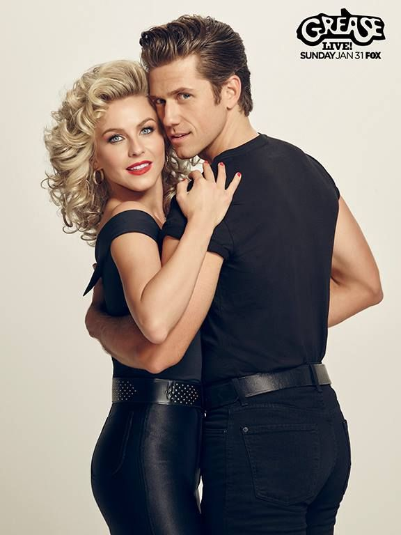 julianne hough as sandy and aaron tveit as danny in grease live my heart isn - Greece Halloween Costumes