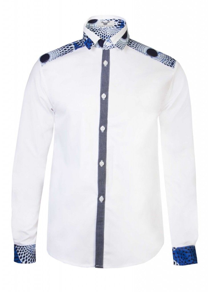 African Print Men's dress shirt
