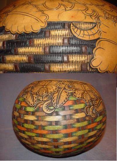 64 Best Gourd Faux Basket Weave Images On Pinterest