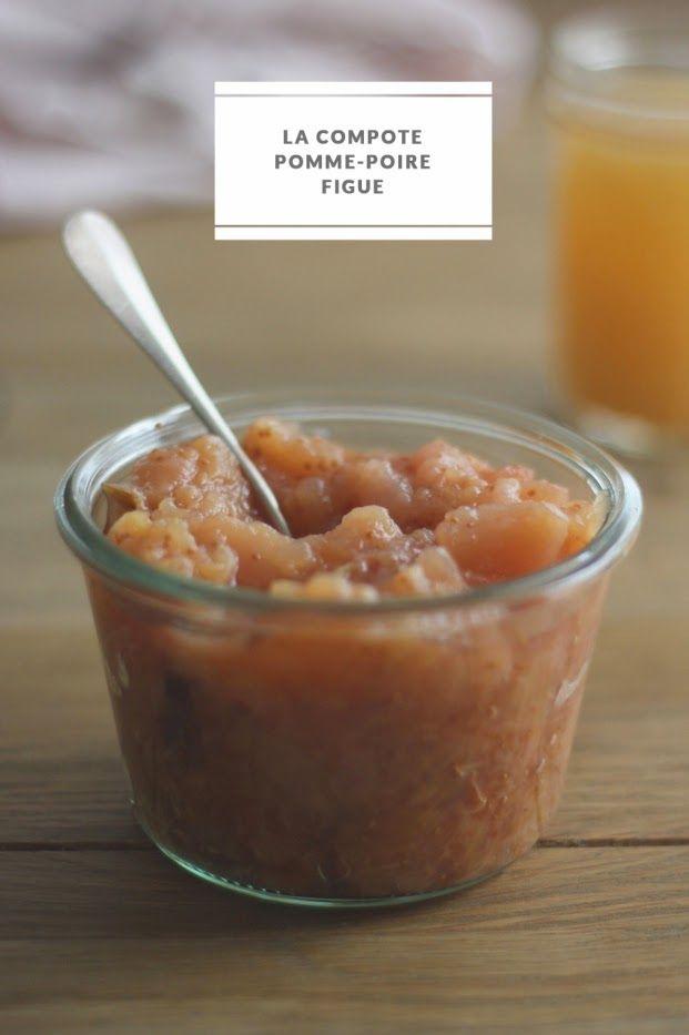 SANS GLUTEN SANS LACTOSE: Compote pomme-poire-figue sans gluten et sans lactose