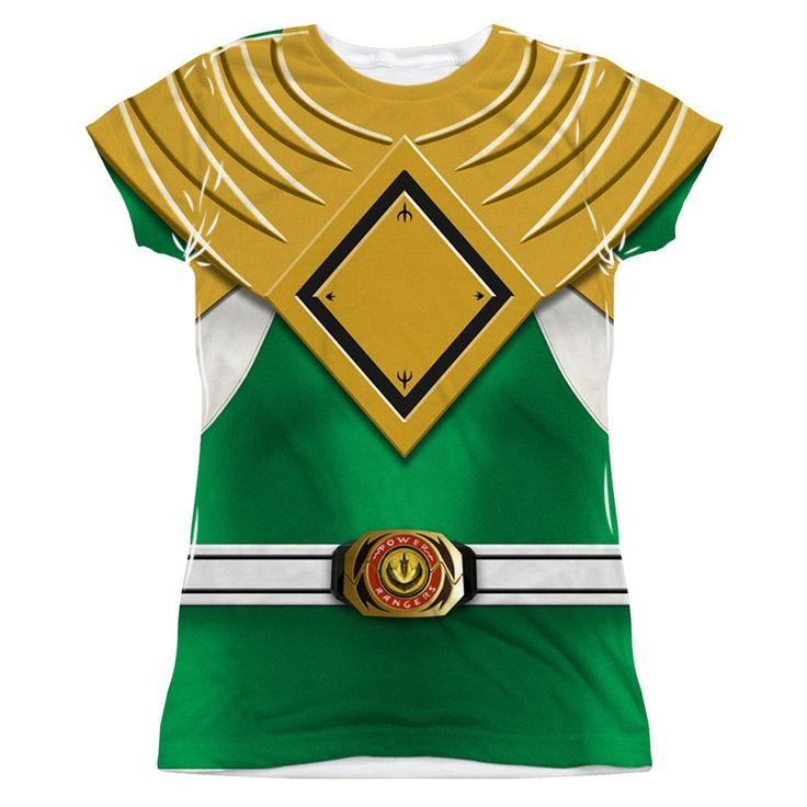 Power Rangers - Green Ranger Costume Junior All Over Print 100% Poly T-Shirt
