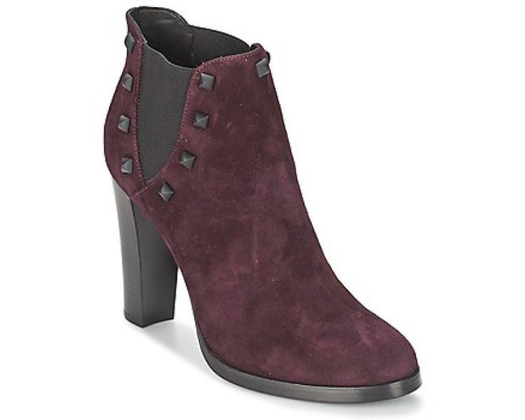 Femme Pas Cher  Alberto Gozzi CAMOSCIO NEIVE Bordeaux Bottines / Boots