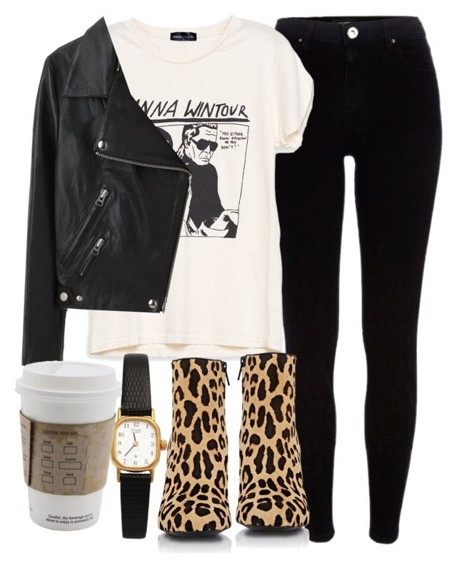 """""""Untitled #4904"""" by laurenmboot ❤ liked on Polyvore featuring River Island, Yves Saint Laurent, American Apparel and Acne Studios"""