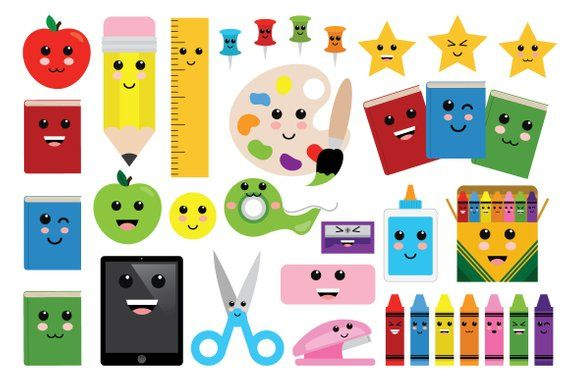 Cute Classroom Clip Art Set Png Svg Vector Back To School Office
