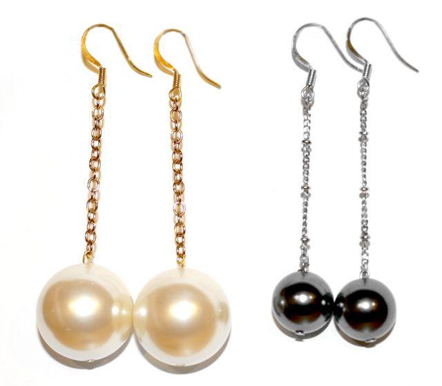I Spy DIY: [My DIY] Ball Drop Earrings