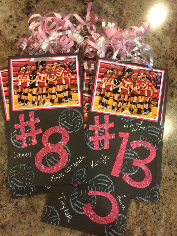 PINK OUT Volleyball Locker Decorations - LOVE the SPARKLE & BLING