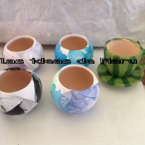 Las ideas de Maru: Mini taza-maceta