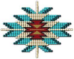 Native Style Beadwork Sunburst