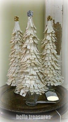 Book page Christmas tree. Love these! Definitely going to make one!