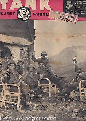 GLORIA de HAVEN PIN-UP WWII YANK MAGAZINE WAR MAP CAMP SUSUPE PERSHING M26 1945