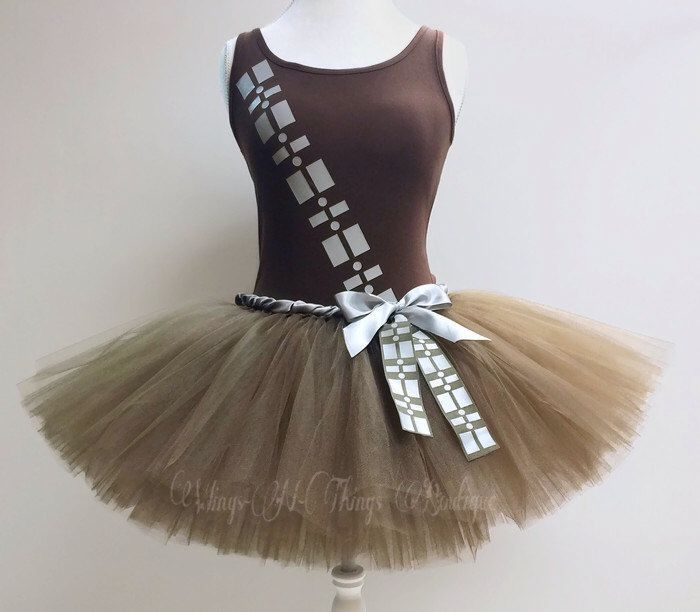 Adult WOOKIE COSTUME SET, Tutu Skirt, Tank Top, Womans, Ammo Belt, Chewy, Brown Ewok, Geekery, Running, Marathon, Run Tutu, Chewbacca, Shirt by wingsnthings13 on Etsy https://www.etsy.com/listing/463945679/adult-wookie-costume-set-tutu-skirt-tank