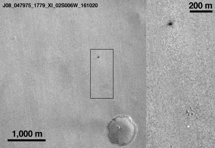 A NASA spacecraft circling Mars has photographed wreckage of Europe's Schiaparelli lander, confirming that it crashed on the Red Planet.