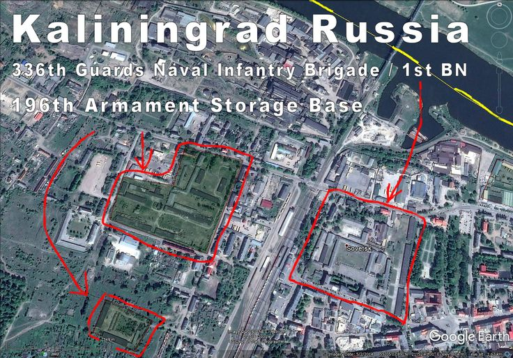 Kaliningrad Russia, Sovetsk (Tilsit) has 1st Battalion of 336th Naval Infantry Brigade and a huge weapon storage right at Latvia's border.