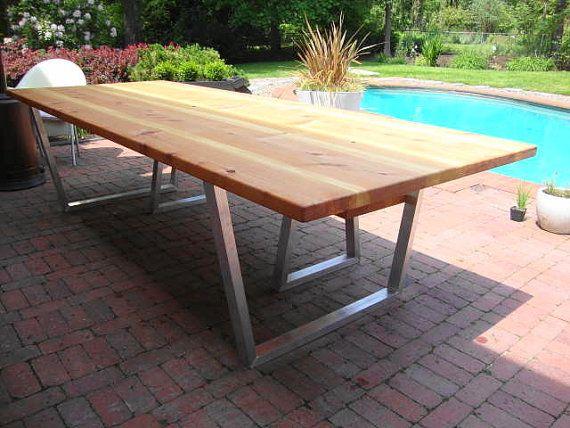 Best 20+ Modern outdoor dining tables ideas on Pinterest   Modern ...