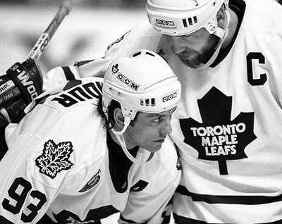 Vintage Leafs: Doug Gilmour and Wendel Clark Photos