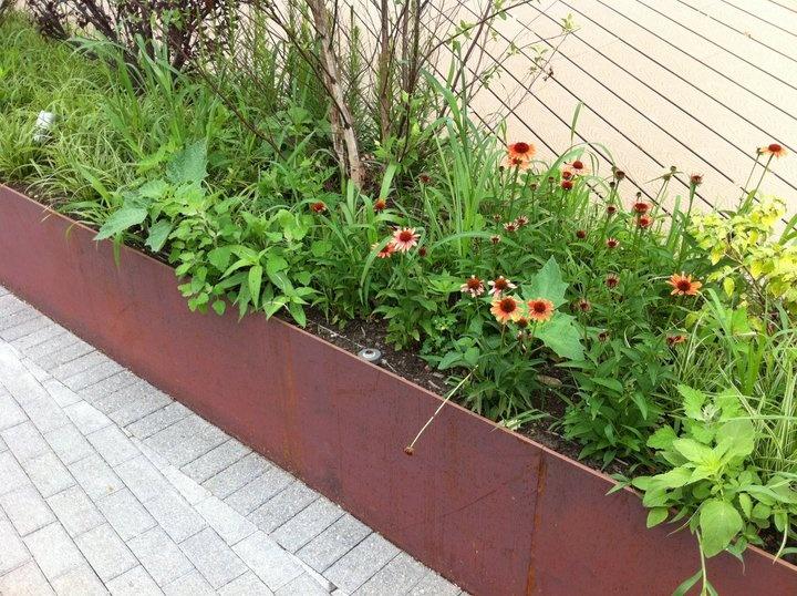 17 best ideas about corten steel planters on pinterest - Jardineras modernas ...