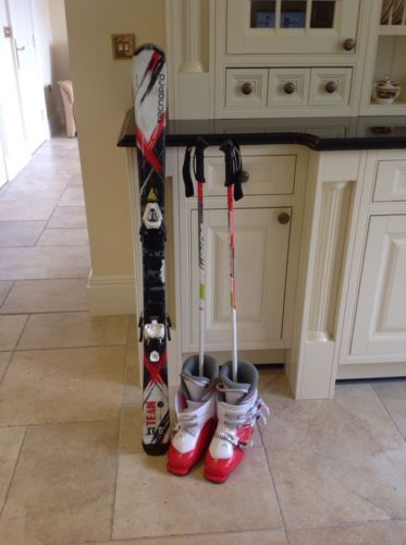 Children's  #tecnopro #skis, #wed'ze sticks and head ski boots 240/245,  View more on the LINK: http://www.zeppy.io/product/gb/2/172198723258/