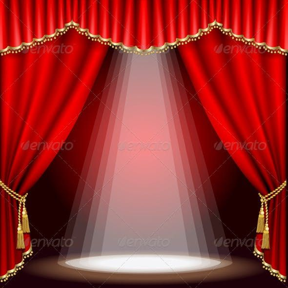 Theater Stage Mesh Theatre Stage Stage Curtains Red Curtains