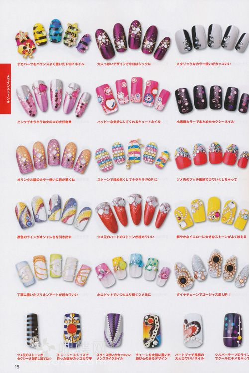 124 best Japanese Nail Design images on Pinterest | Nail decorations ...