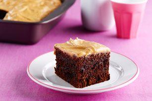 Double Chocolate-Peanut Butter Snacking Cake Recipe - Kraft Recipes
