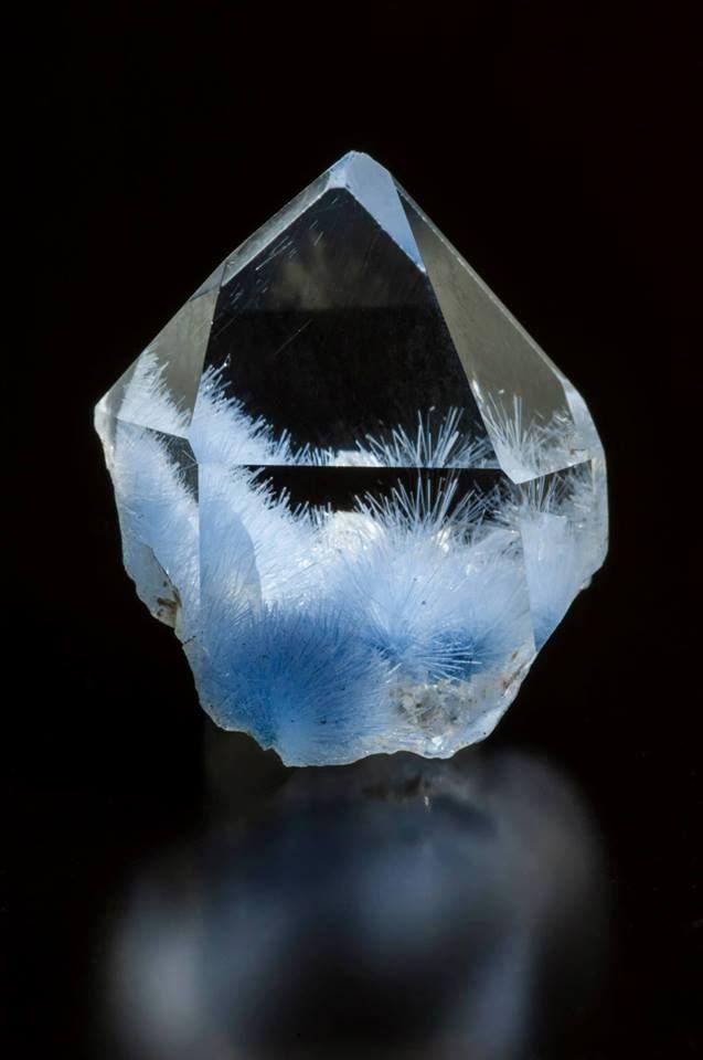 dumortierite in quartz  www.facebook.com/pages/Crystal-Sun-Academy/155697791109192?fref=ts