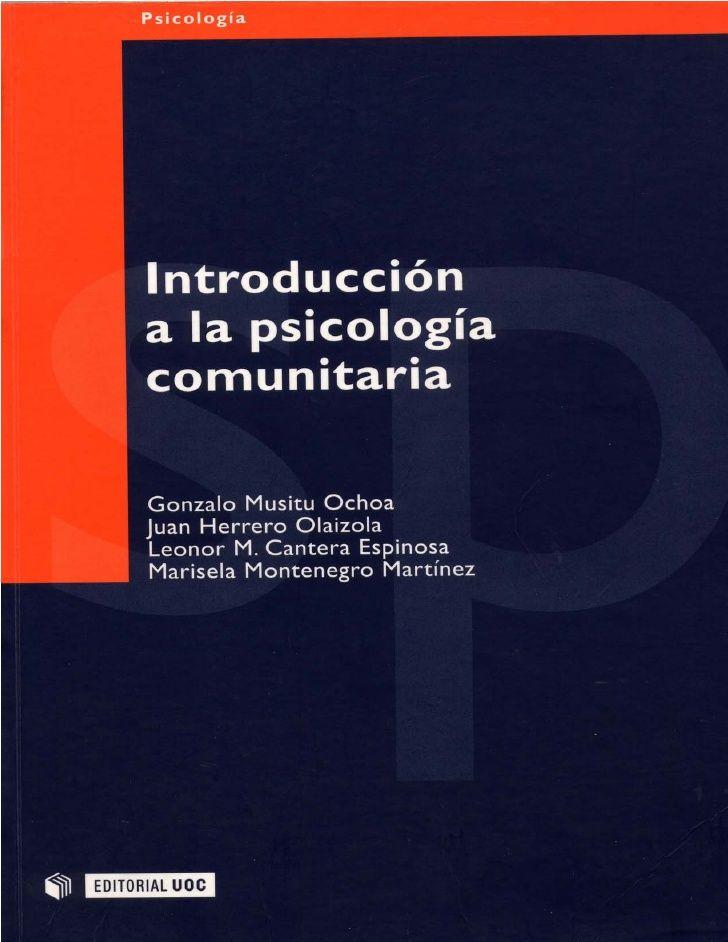psicología comunitaria  marisela montenegro - Buscar con Google