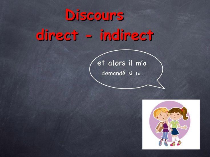 Discours  direct - indirect   et  alors   il   m'a   demandé   si   tu...