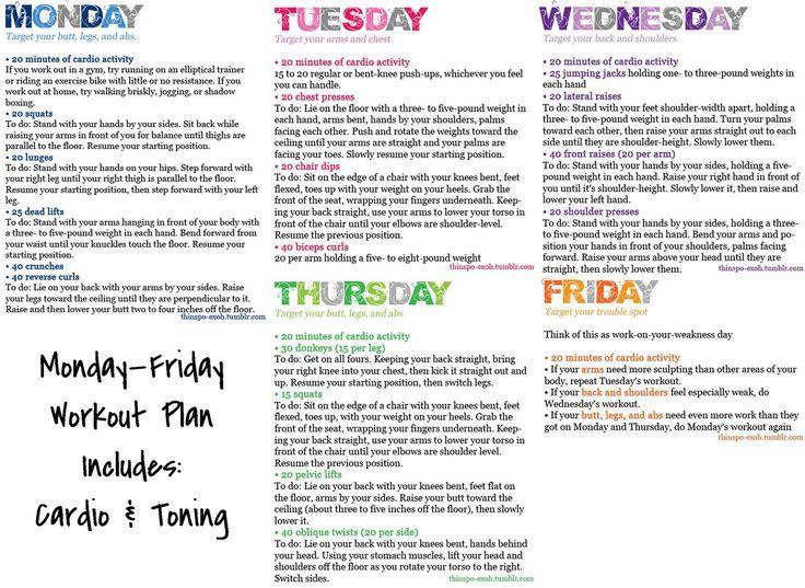 Monday-Friday Workout Plan