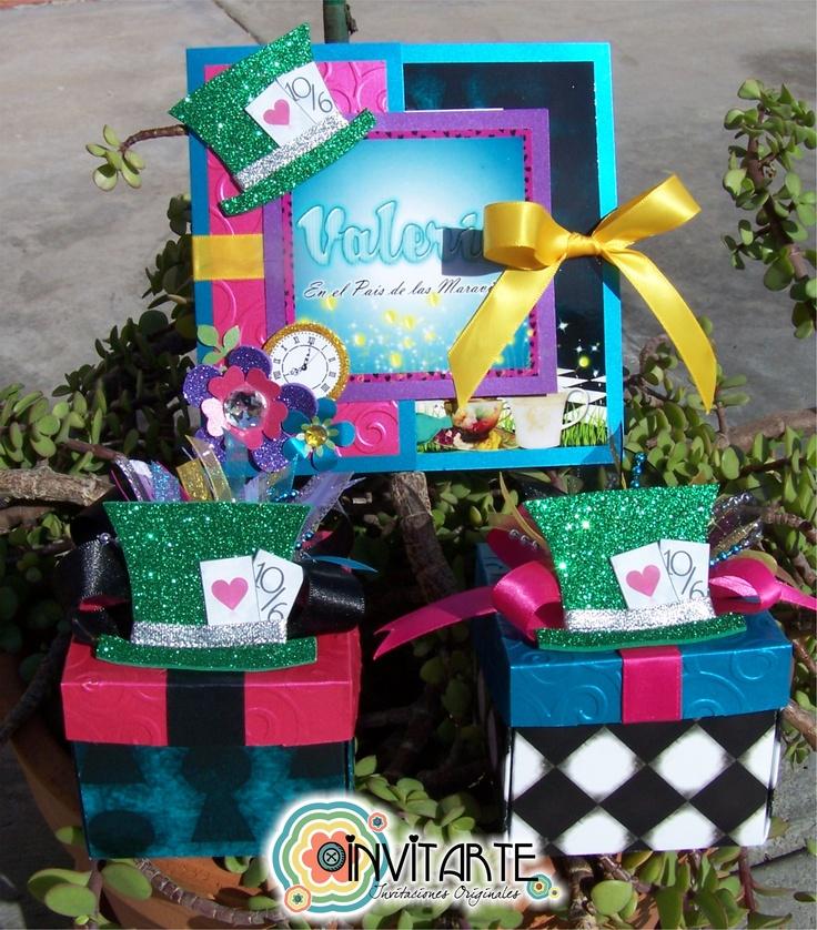 Invitaciones de xv a os con el tema de alicia en el pa s for Decoracion xv anos alicia pais maravillas