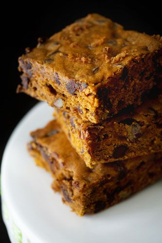 pumpkin blondies by @Jamie {My Baking Addiction}
