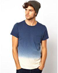 Paul Smith | Blue Dip Dye Tshirt for Men | Lyst
