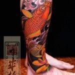 Tatuagem de carpa: fotos