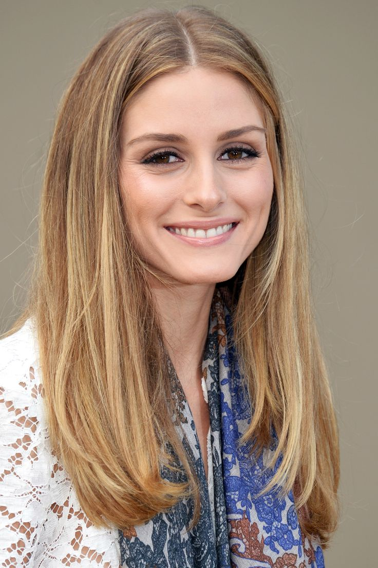 """Who: Olivia Palermo What: Long & Straight Guy's Opinion: """"I like long hair so this is my favorite. The center part gives a hippie vibe.""""   - HarpersBAZAAR.com"""