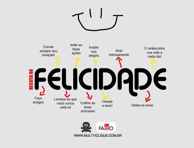 A receita da #felicidade!
