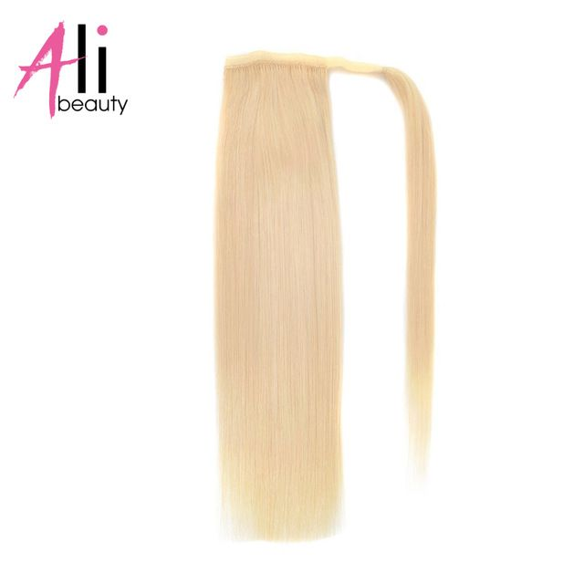 ALI BEAUTY Human Hair Ponytails One Clips In Hair Extension Wrap Around Human Hair Pony tail 5 Colors Brazilian Remy Hair -in Ponytails from Hair Extensions & Wigs on Aliexpress.com | Alibaba Group