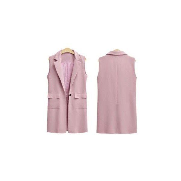 Plain Long Vest (1.120 RUB) ❤ liked on Polyvore featuring outerwear, vests, women, long vests, vest waistcoat, purple vest, long waistcoat and purple waistcoat