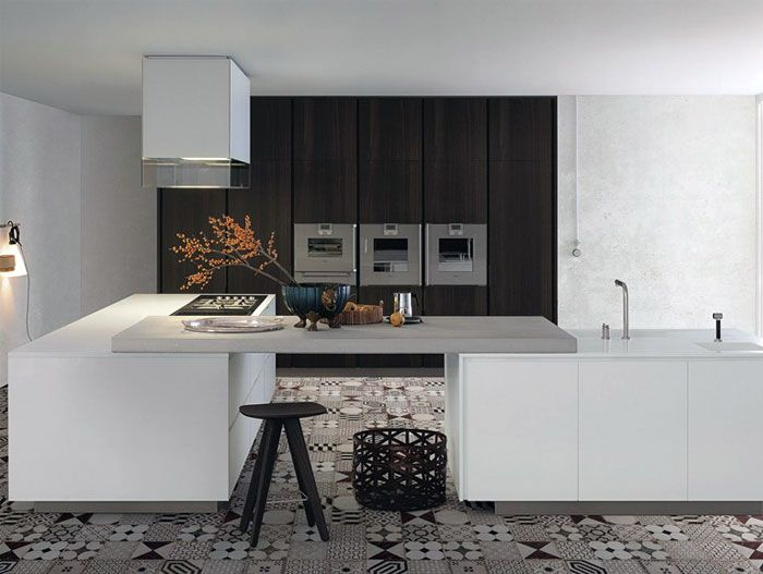 Lacquered Wooden Kitchen With Island by Paolo Piva kitchen minimalist contemporary style4
