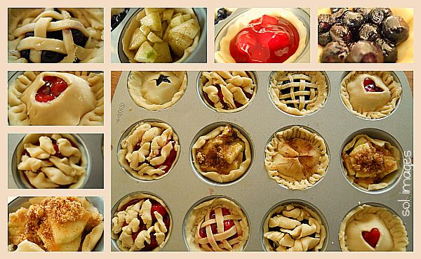 mini fruit pies: Idea, Muffin Tins, Food, Sweetie Pies, Mini Pies, Mini Fruit Pies, Minis, Dessert