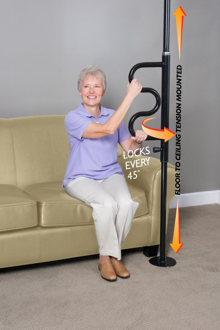 Daily Care For Seniors brings you Stander's Security Pole & Curve Grab Bar providing safe, secure support for sitting, standing or transferring. The slim design makes for an easy fit in tight spaces. It can be installed between the bathtub and the toilet, placed at your bedside or other convenient location. #Stander #Bedside_Rails #Safety_Rails #Senior_Products #Products_For_Elderly #Safety_Rails #Senior_Living #Products_For_Seniors
