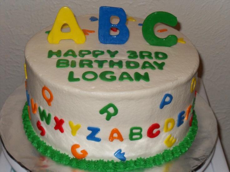 Abc Themed Birthday Cake Kid Stuff Pinterest