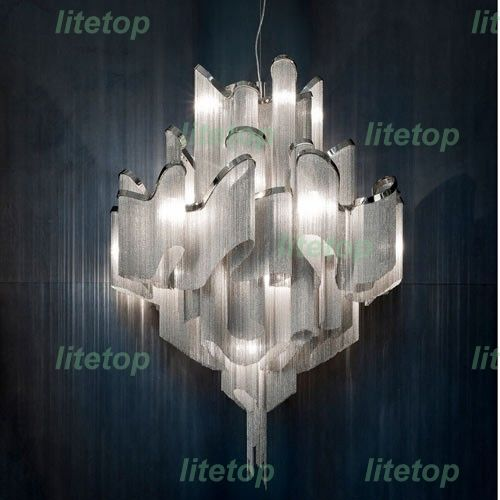 893.00$  Watch now - http://ali7hg.worldwells.pw/go.php?t=32423470252 - terzani stream suspension light aluminum chain chandelier modern novelty lighting fixture aluminum pendant lamp chain chandelier