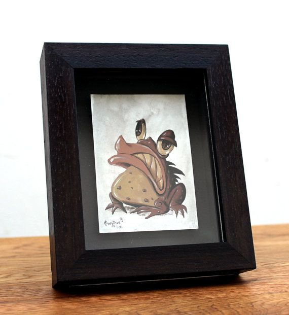 Amphibian gouache and watercolour painting by #TerrapinAndToad #cabinetofcuriosities