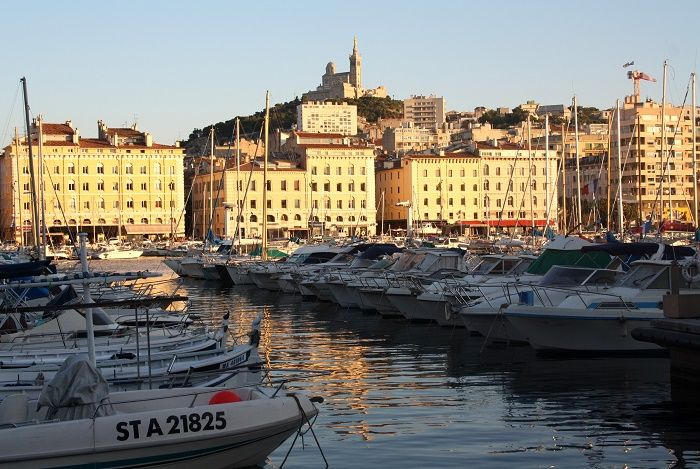 An early evening view of the Vieux Port, Marseille