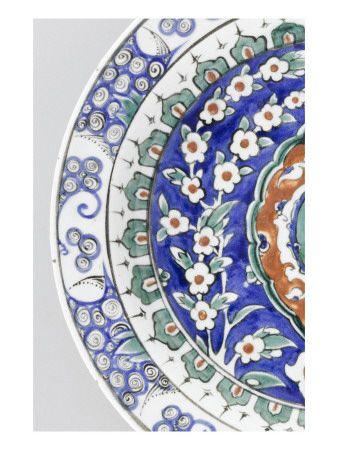 Plat au shemseh vert - Musée national de la Renaissance (Ecouen)