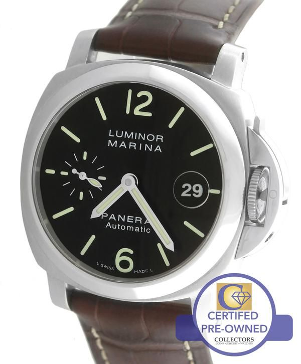 Mint Panerai 40mm Luminor Marina Stainless Automatic Watch Collectors Brand Panerai (Guaranteed Authentic) Model                             Luminor Marina Refe