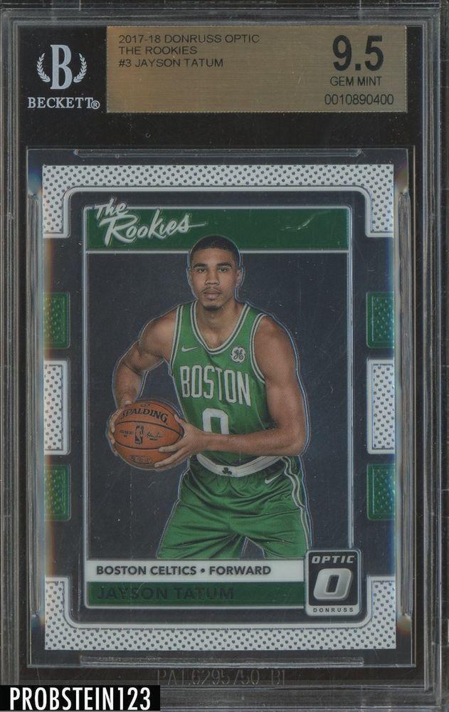 6fbd7a234aa 2017-18 Donruss Optic  3 Jayson Tatum Boston Celtics RC Rookie BGS 9.5 GEM  MINT
