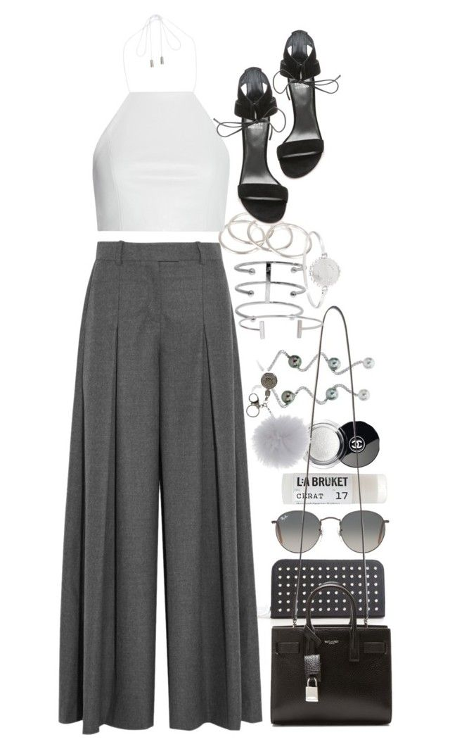 """""""Untitled #8348"""" by nikka-phillips ❤ liked on Polyvore featuring Yves Saint Laurent, J.Crew, Vanessa Mooney, rag & bone, Marc by Marc Jacobs, Toast, Ray-Ban, Stuart Weitzman, Chanel and LJD Designs"""