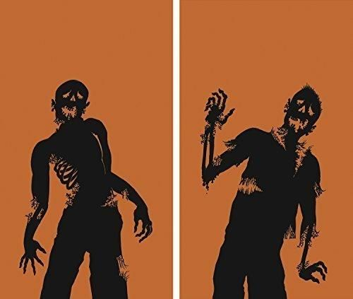 "WOWindow Posters Ghoulies Silhouettes Halloween Window Decoration Two 34.5""x60"" Backlit Poster"